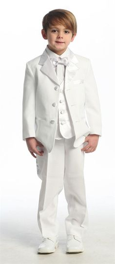 Little white tuxedo would be perfect for a ring bearer!