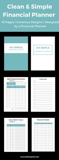 Planner Financial, Budget Printable, Budget Planner, Budgeting - simple budget