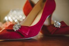 Nine West pumps with bridal bling- great DIY idea for a wedding!