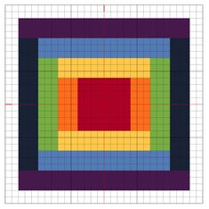 free chart rainbow cross stitch