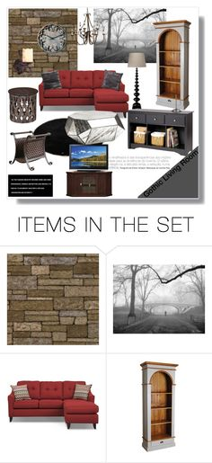 """""""gothic living room"""" by artistic-biscuit ❤ liked on Polyvore featuring art and living room"""