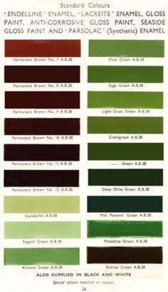 Good 40u0027s And 50u0027s Colours