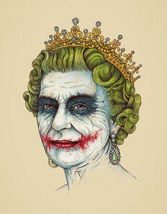 "the queen , the joker ""God-save-the-villain"" von Enkel Dika"