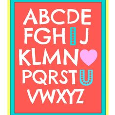 adorable ABC Printable from Cox's Corner