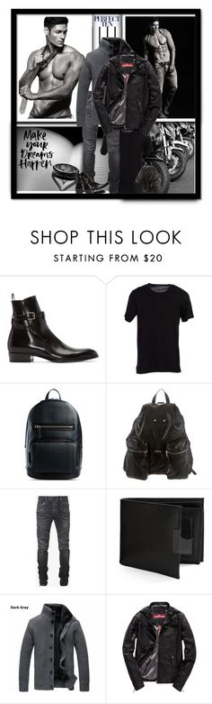 """""""Hideo Muraoka -Perfect Ten"""" by majezy ❤ liked on Polyvore featuring Forum, Yves Saint Laurent, Dolce&Gabbana, Burberry, Balenciaga, Balmain, Perry Ellis, Superdry, mens and men"""