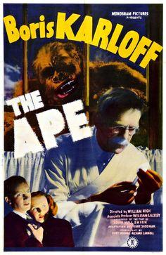 The Ape. #Film #Horror #Movie # Poster