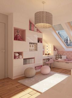 Design idea for a girl& room in a pink design Room 4 kids - Kids room - Girl - House interior - Design Room, Home Design, Design Design, Design Girl, Layout Design, Girls Bedroom, Bedroom Decor, Girl Rooms, Room Girls
