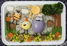 This show was huge around here when the boys were young.   Bento #78: Peep and the Big Wide World by AnnaTheRed, via Flickr