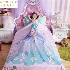 Find More Bedding Sets Information about Digital Printing Princess Cotton Children Bedding Set Queen Twin size Girl 4PCS Set Duvet Cover Bedspread housse de couette cama,High Quality bedspread set,China bedspread purple Suppliers, Cheap cover studio from Top Qulity Human Hair Factory on Aliexpress.com
