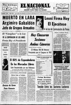 Publicado el 15 de diciembre de 1964.