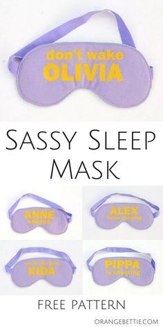 Sassy Sleep Mask - Free Sewing Pattern by Orange Bettie