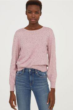a4b2ce6d822 Fine-knit jumper - Light pink nepped - Ladies
