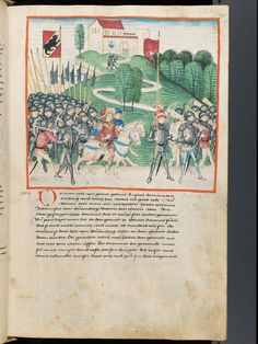 Bern, Burgerbibliothek, Mss.h.h.I.1, f. 175 – Diebold Schilling, Amtliche Berner Chronik, vol. 1