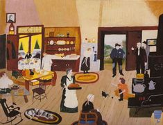 A Tramp On Christmas Day, Grandma Moses, 1946