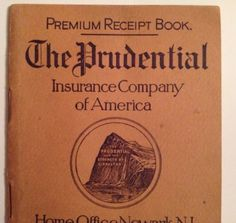 Prudential Insurance 1901 1904 Weekly Premium Receipt Book Antique Newark NJ