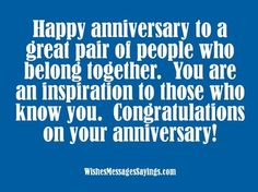 Inspirational anniversary wishes for couples