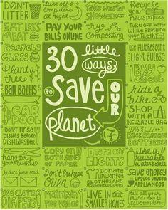 30 manières de ...sauver la planète!