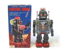 1960s Tin Japan Space FIGHTING ROBOT EXC in Box Works!! #HorikawaSH