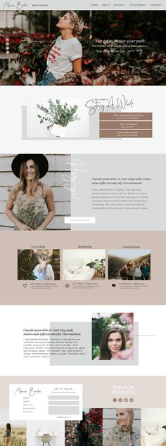 Custom Website Design & Templates for Ambitious Female Entrepreneurs Get Off! - Intuitively designing soulful personal brands websites that STAND OUT for ambitious dreamers Custom Web Design by Becca Luna Layout Web, Layout Design, Website Design Layout, Homepage Design, Design Design, Flat Design, Design Ideas, Website Design Inspiration, Best Website Design