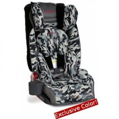 High performance birth to booster car seat from 2.3-54 kg (5-120 lbs). Convertible 2.3-30 kg (5-65 lbs) in 5-point harness, then booster to 54 kg (120 lbs).