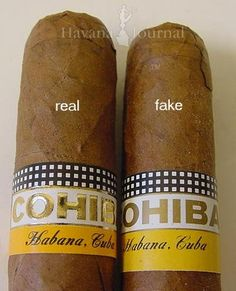 Cohiba Esplendido Cuban Cigars - Real vs Fake Counterfeit Comparison