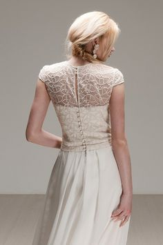 Modern, free-spirited wedding dresses with a touch of whimsy and vintage. Otaduy 2015 Collection: Wild Love via @BelleChicBlog