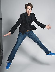 "Kate Woolfe defines the ""Lesbian Look"" as ""short hair, funky glasses, maybe a little leather"" (87) & claims that ""it has less to do with one's sexual preferences and more to do with a rejection of our culture's values about women"" (90). Out MSNBC anchor Rachel Maddow exemplifies this  look & in the linked interview with Katie Couric discuses the ways in which her look differs from what she calls the ""pretty-girl-on-cable"" stereotype."