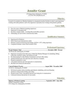 Free Medical Assistant Resume Templates  Resume Templates And