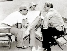 Elia Kazan, Katharine Hepburn and Spencer Tracy discussThe Sea of Grass
