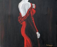"my painting with acrilic ""the mystery lady"""