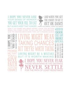 I HOPE YOU DANCE. This was their Pre-School Graduation song & now it is my wish for my baby girl as she starts her Senior a year.