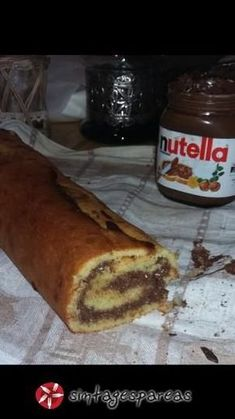 Ρολό κέικ με nutella #sintagespareas Nutella, Greek Recipes, French Toast, Recipies, Sweets, Snacks, Cookies, Breakfast, Desserts