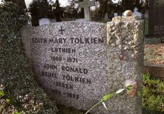 """Tolkien's gravestone is engraved with """"Beren,"""" and his wife's with """"Luthien,"""" after the love story of the mortal man and immortal elf-maiden. Legolas, Gandalf, Kili, Jrr Tolkien, Narnia, Midle Earth, You Shall Not Pass, Concerning Hobbits, Luthien"""