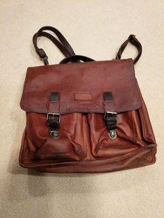 96000099cf06 Men s Genuine Leather Vintage Laptop Messenger Briefcase Bag Satchel   fashion  clothing  shoes