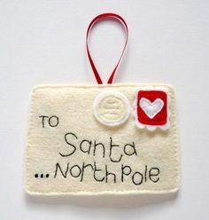 Lettera a Babbo Natale in feltro