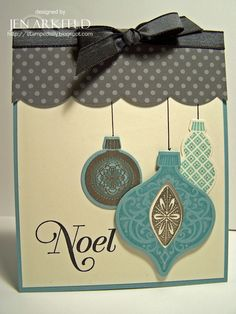 Stamped Silly: Paper Player Color Challenge - lovely card. #Christmas #cards #paper_crafting