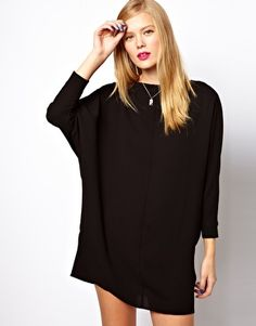 ASOS Shift Dress With Batwing Sleeve. Comes in navy too.