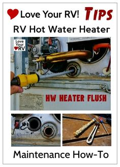My Yearly RV Hot Water Heater Maintenance - RV hot water heater maintenance is pretty straight forward. With a few tools, a warm sunny afternoon and a little know how it's easy to do it yourself. The main thing we want to do is flush out the sediments and deposits that build up over time in the tank and replace any corrode parts. http://www.loveyourrv.com/yearly-rv-hot-water-heater-maintenance/ #RV #RVing #Howto