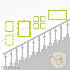 Cómo colgar cuadros en una escalera.