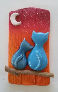 Günbatımı kediler