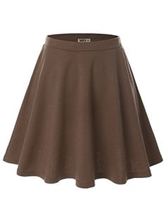Doublju Women Plus-size Flower Print Elastic Waist Band Scuba Fabric Flared Midi Skirt Cwbss03_Mocha XL Doublju http://www.amazon.com/dp/B00R25GBXG/ref=cm_sw_r_pi_dp_OacOvb124KYRQ