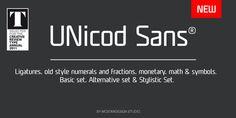 UNicod Sans – A Font by Mostardesign Studio