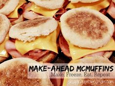If you're a busy mom, you'll love this idea for a quick-and-easy breakfast- ready in just ONE MINUTE: Grab 'n Go Freezer Egg McMuffin Sandwiches! Click for the whole recipe and assembly process- you'll want to get the eggs just right!