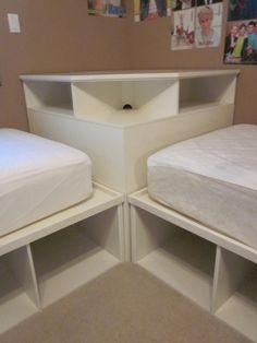 Tween/Teen 2 twin beds & Pottery Barn corner unit                                                                                                                                                                                 More