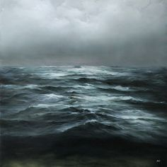 Adamhallart.com Oceanscapes oil painting Abstract Landscape, Landscape Paintings, Ocean Paintings, Oil Paintings, Stürmische See, Ghost In The Machine, Seascape Art, Am Meer, Modern Art Prints