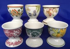 Villeroy & Boch Single Footed Egg Cups 6 Different Patterns Forsa Alt Amsterdam #VilleroyBoch