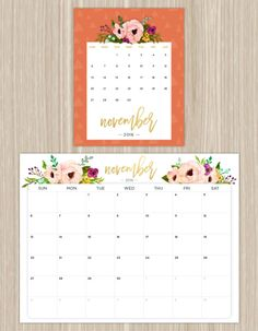 7 Beautiful Freebie Printable Calendars for 2016