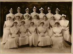 Brigham and Women's Hospital  1915 Here, the Peter Bent Brigham Hospital School of Nursing class of 1915 is seen in the traditional garb of the time.