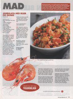 Jambalaya med rejer og skinke