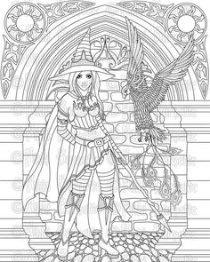 """FOR PERSONAL HOBBY USE ONLY. COMMERCIAL AND DIGITAL USE IS PROHIBITED. IMAGES ARE COPYRIGHT PROTECTED.  This listing is for a printable 8x10"""" .jpg file coloring page/digital stamp of my illustration Serafina. You can use this in all your personal crafting projects such as scrapbooking, handmade cards and other paper crafts. Print it, color it, cut it out and make all sorts of wonderful items! Be creative and have fun.  The image you receive will be one black and white digital stamp .jpg…"""